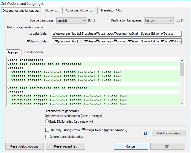 First, Close 'Set Options and Languages' to change Interface language