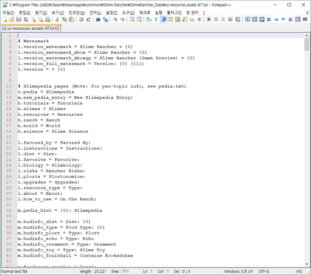 Exported ui TextAsset. Show by notepad++ editor